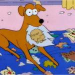 Ajudante de Papai Noel, dos Simpsons, um Halgo